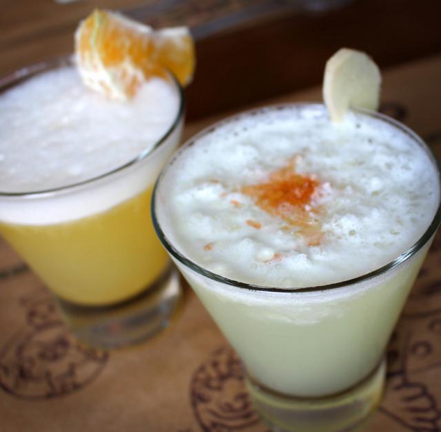Bem feitos Mandarina Sour e Pisco Sour